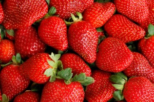 Fresh Ripe Strawberries Full Frame Background